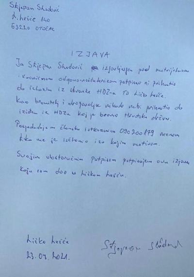 SKANDAL  Milinović  razotkriven  u  krivotvorenju  potpisa  članova  HDZ-a