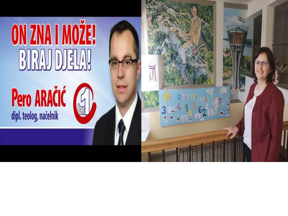 Velika  pobjeda  supružnika  Pere i Dražene  Aračić, Dražena  je imenovana  za  v.d. ravnateljicu  škole